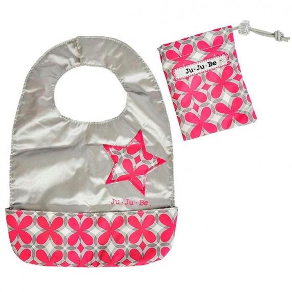 Слюнявчик Ju-Ju-Be Be Neat pink pinwheels