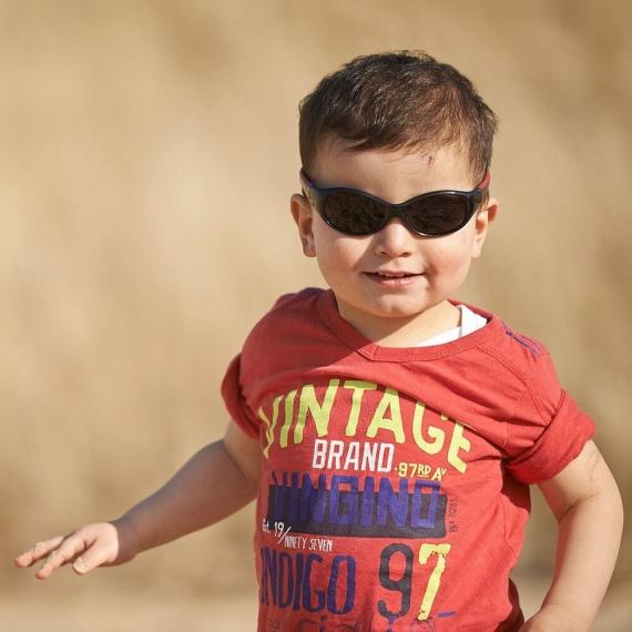 Детские солнцезащитные очки Real Kids Explorer 2-4 года черный/красный