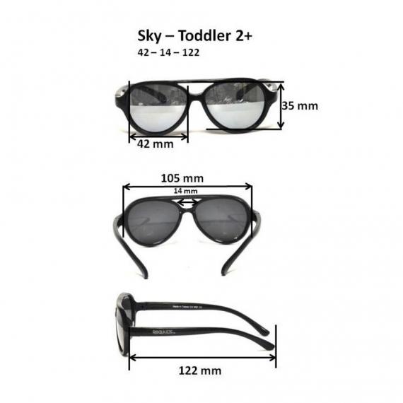 Детские солнцезащитные очки Real Kids Авиатор 2-4 года неон розовые