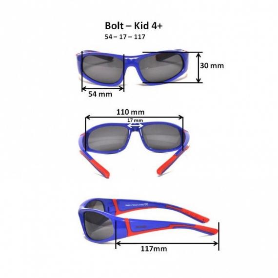 Детские солнцезащитные очки Real Kids Bolt 4+ черный/лайм