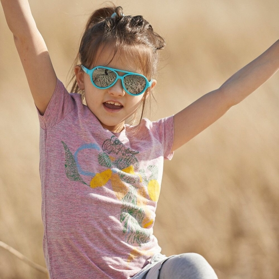 Детские солнцезащитные очки Real Kids Авиатор 4+ аквамарин