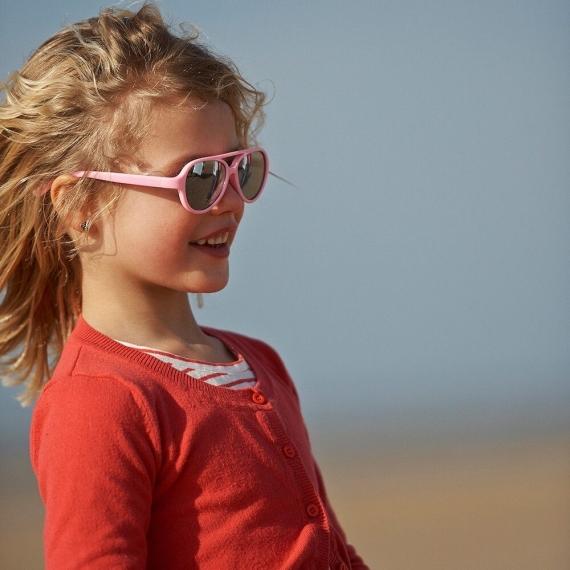 Детские солнцезащитные очки Real Kids Авиатор 4+ неон розовые