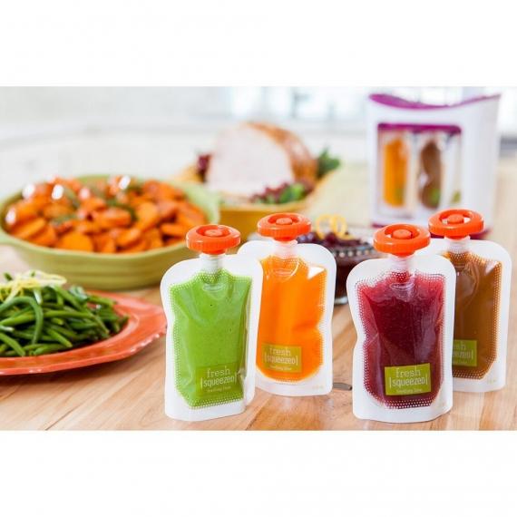 Комплект системы расфасовки детского питания и смузи, с дополнительными принадлежностями infantino fresh