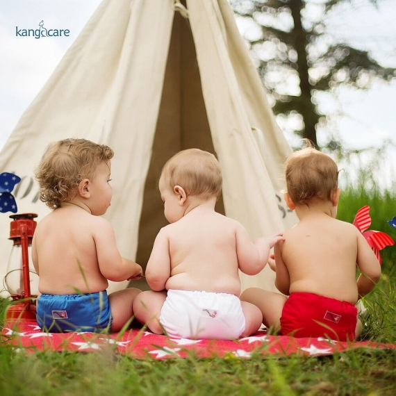 Подгузник для плавания Newborn Snap Cover Kanga Care Scarlet