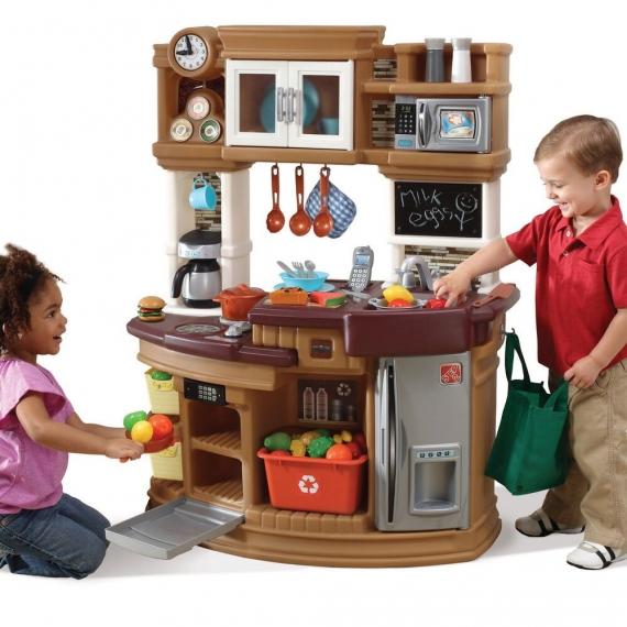 """Кухня детская """"Шеф-повар"""" коричневая"""