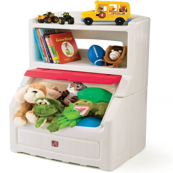 Комод для игрушек (с красной крышкой)