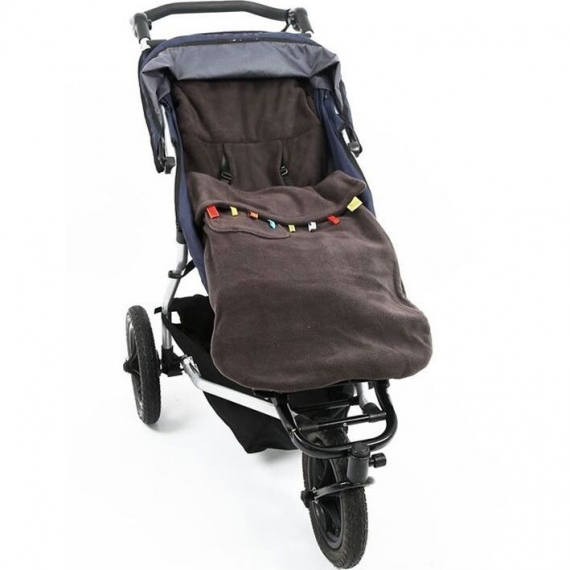 Флисовый конверт Buggysnuggle Toggles Charcoal Grey Fleece