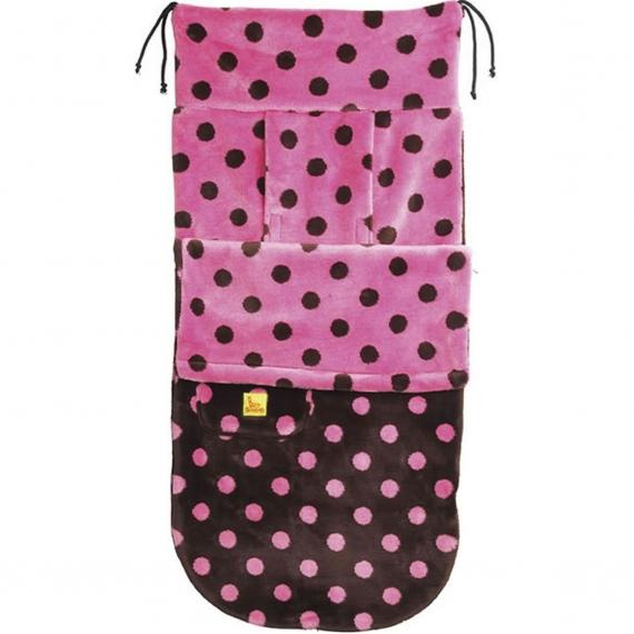 Конверт Buggysnuggle Big Dotty Choc / Pink /искусственный мех