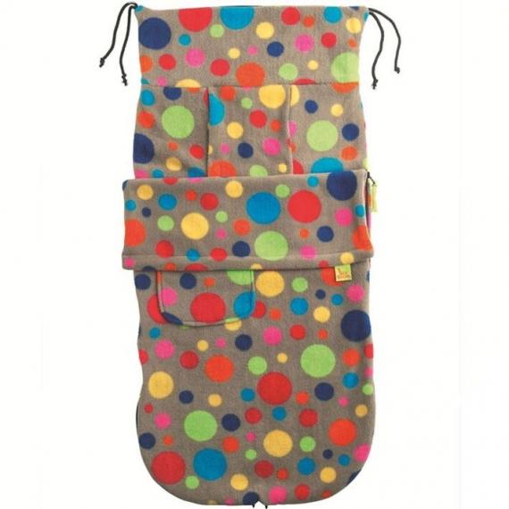 Флисовый конверт Buggysnuggle Bright Bubbles Fleece