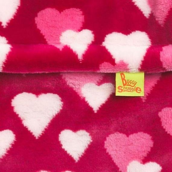 Конверт Buggysnuggle Hearts Pink Fur /искусственный мех