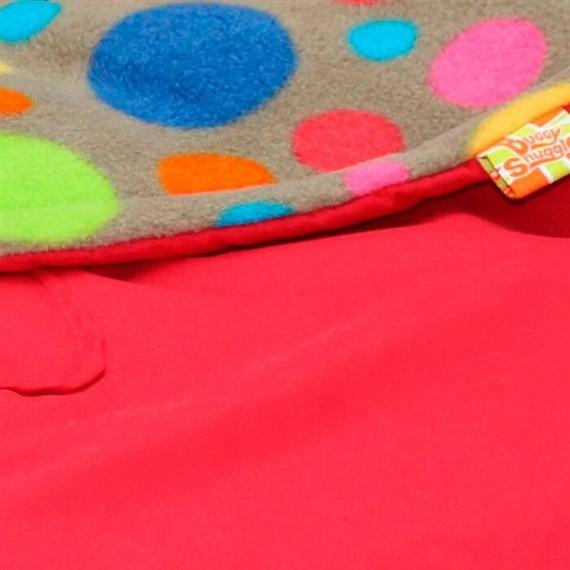 Водостойкий конверт Buggysnuggle WP Red / Bright Bubbles