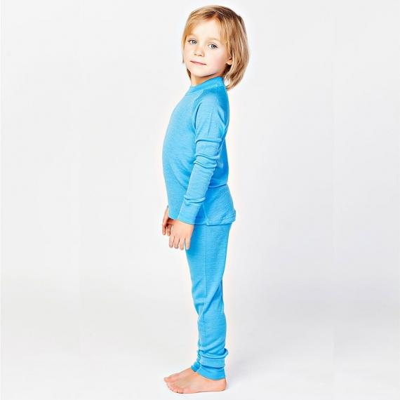 Леггинсы из шерсти мериноса голубые (размер 4-5 лет)