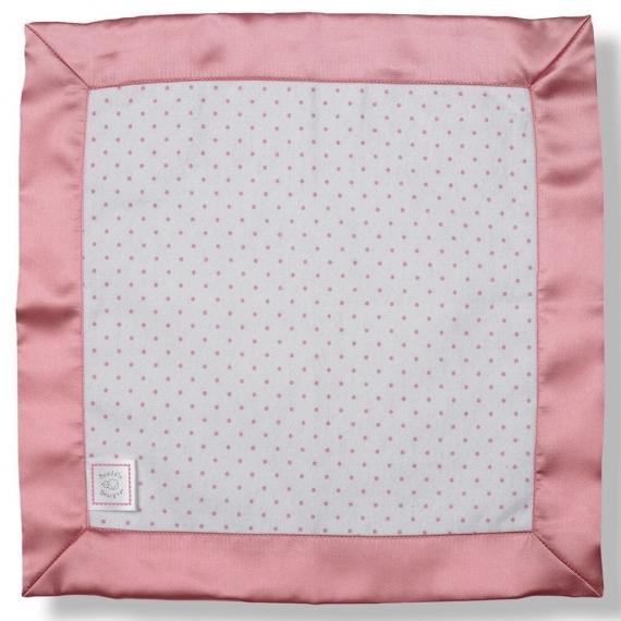 Комфортер платочек обнимашка Baby Lovie - Flannel Bright Pink Dot