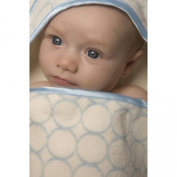 Полотенце с капюшоном Hooded Towel - Organic Blue Mod on IV