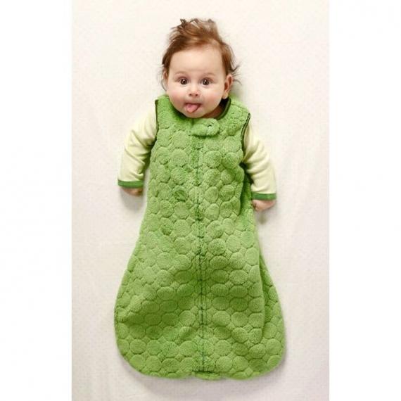 Спальный мешок для детей SwaddleDesigns TOG 0.7 zzZipMe Sack 3-6 M - Organic Flannel KW Dots & Stars