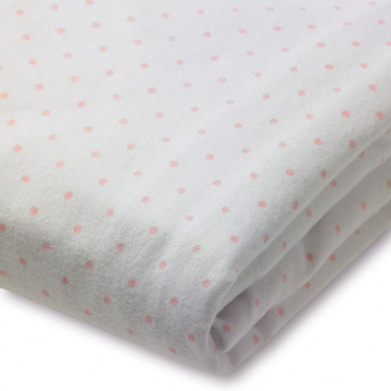Простынь детская SwaddleDesigns Fitted Crib Sheet Pstl. Pink Dot