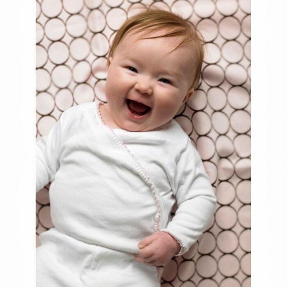 Простынь детская SwaddleDesigns Fitted Crib Sheet True Blue Stripe