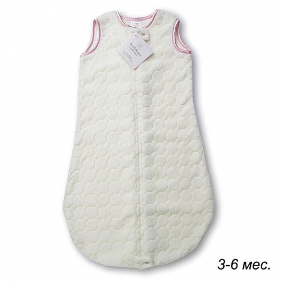 Детский спальный мешок SwaddleDesigns zzZipMe 3-6 М Ivory Puff w/Pink