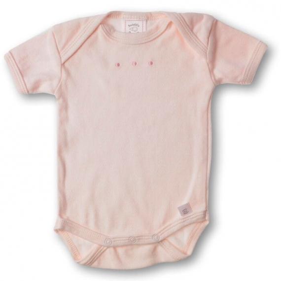 Боди с коротким рукавом 0-3 мес Lt Pink w/PP Dots