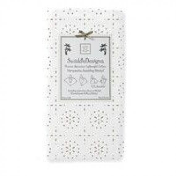 Пеленки детские тонкие SwaddleDesigns Taupe Gray Sparklers on White