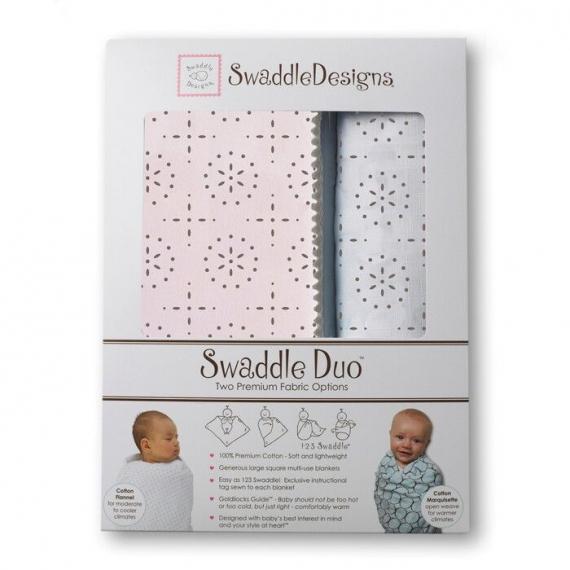 Набор пеленок SwaddleDesigns Swaddle Duo Sparklers Pt Pink