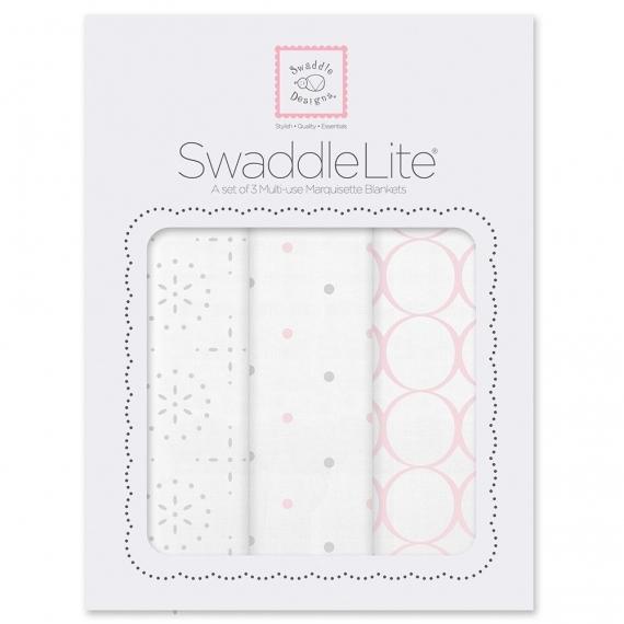 Набор пеленок SwaddleDesigns SwaddleLite Sparklers Pink