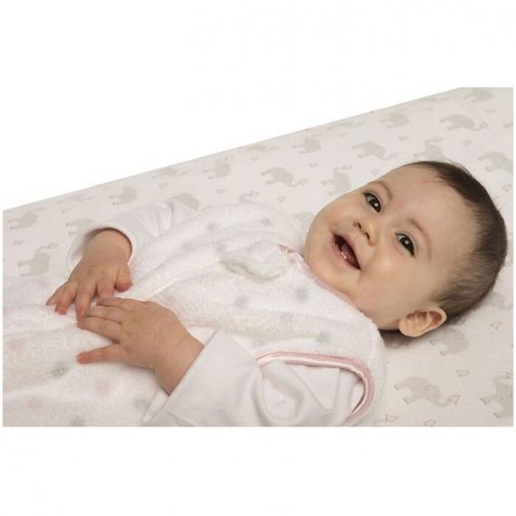 Простынь детская SwaddleDesigns Fitted Crib Sheet SC Elephant & Chickie