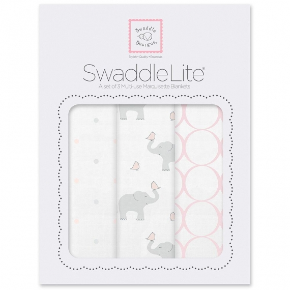 Набор пеленок SwaddleDesigns SwaddleLite PP Elephant/Chickies