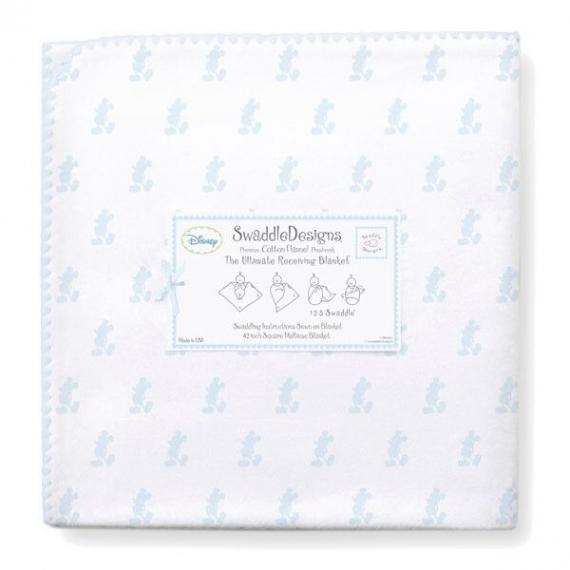 Фланелевая пеленка для новорожденного SwaddleDesigns PB Little Mickey