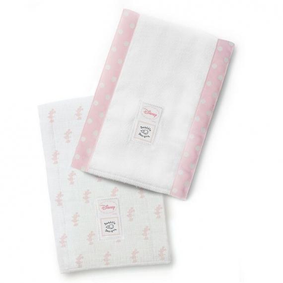 Полотенчики SwaddleDesign Marquisette Baby Burpie Marquisette Baby Burpie Classic Disney - Pastel Pink Little Minnie