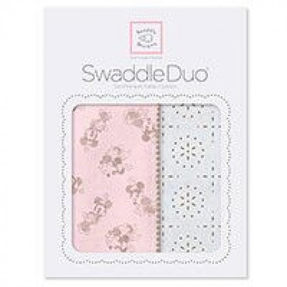 Наборы пеленок SwaddleDesigns Swaddle Duo Taupe Gray Disney