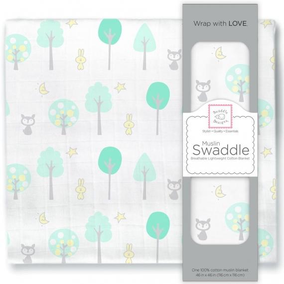 Пеленка муслиновая SwaddleDesigns Green Woodland