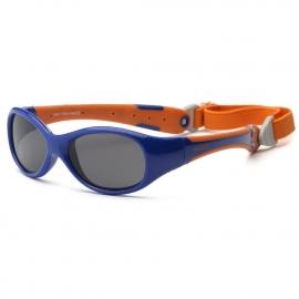 Солнечные очки для малышей Real Kids Explorer 0+ синий/оранжевый