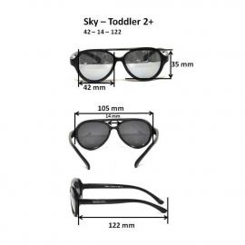 Детские солнцезащитные очки Real Kids серия Авиатор 2-4 года неон зеленые