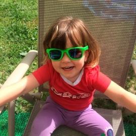 Детские солнцезащитные очки Real Kids серия Серф 2-4 года салатовые