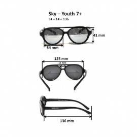 Детские солнцезащитные очки Real Kids Авиаторы 7+ неон розовые