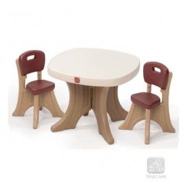 Столик со стульями коричневый