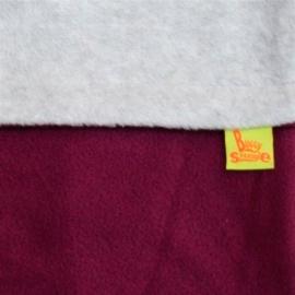 Флисовый конверт Buggysnuggle Combi Plum / Silver Grey