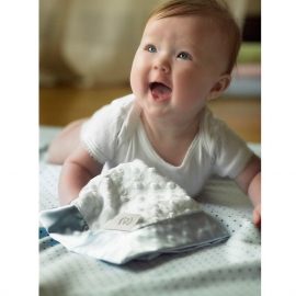 Комфортер платочек обнимашка Baby Lovie SwaddleDesigns плюшевая нежность WH w/Blue Satin