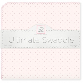 Фланелевая пеленка для новорожденного SwaddleDesigns Pink w/Pink Dot