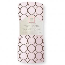 Пеленка детская тонкая SwaddleDesigns Маркизет Pink w/BR Mod C