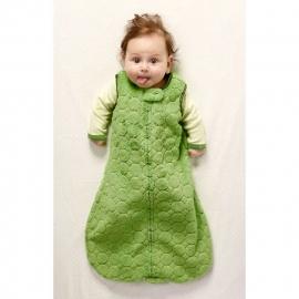 Спальный мешок для детей SwaddleDesigns эко флис TOG 1.5 Organic zzZipMe 6-12 М Pstl. Blue Trim