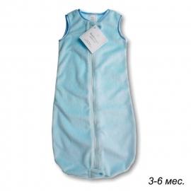 Детский спальный мешок SwaddleDesigns zzZipMe 3-6 М PB Baby Velvet/PB
