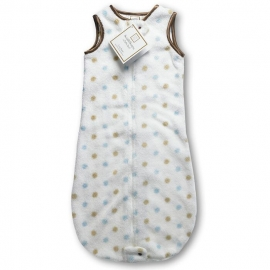 Детский спальный мешок SwaddleDesigns zzZipMe 3-6 М Pstl Blue/Gold Dots