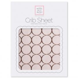 Простынь детская SwaddleDesigns Fitted Crib Sheet Pink w/BR Mod C