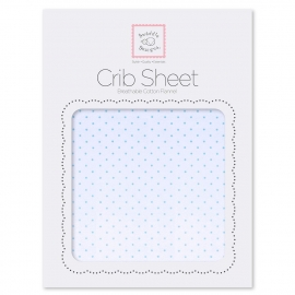 Детская простынь Fitted Crib Sheet Lt. PB w/PB Dots