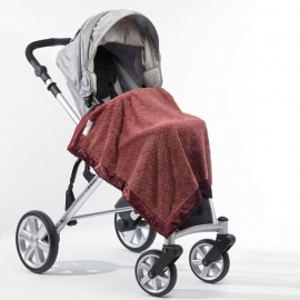 Плед детский SwaddleDesigns Stroller Blanket Red Puff Circle