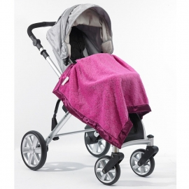 Плед детский SwaddleDesigns Stroller Blanket Very Berry Puff C