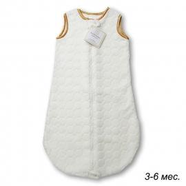 Детский спальный мешок SwaddleDesigns zzZipMe 3-6 М Ivory Puff w/Gold