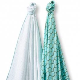 Набор пеленок SwaddleDesigns Swaddle Duo SeaCrystal Duo